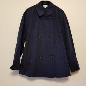 J.Jill India Ink 100% cotton classic pea coat